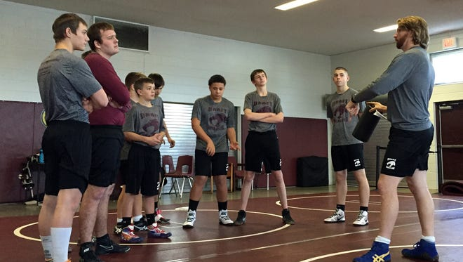 Yes, agreed Stuarts Draft wrestlers in January, it is fun to slam someone to the mat. I heard that more than once on my visit to practice.