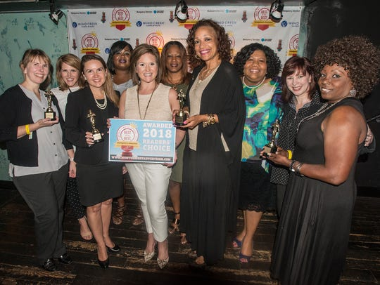 The Junior League of Montgomery won for Best Local Festival at the Montgomery Advertiser's 2018 Reader's Choice Best of the Best Awards on Thursday, July 26, 2018, at B.B. King's Blues Club in Wind Creek Montgomery.