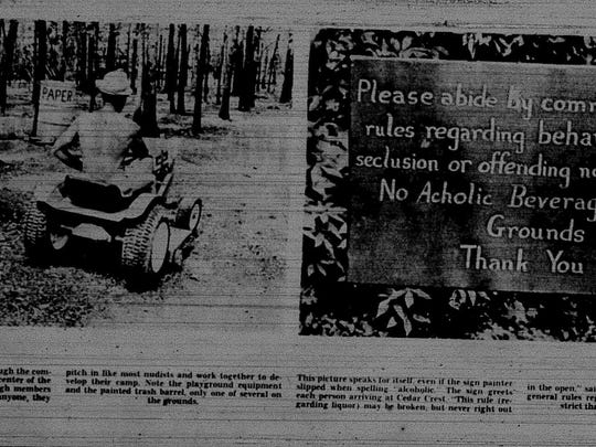 In 1966, the News-Leader sent reporter Larry Hazelrigg and legendary photographer Betty Love to the nudist colony outside Fair Grove. Love balked at the assignment and either quit or was fired, but came back a week later.