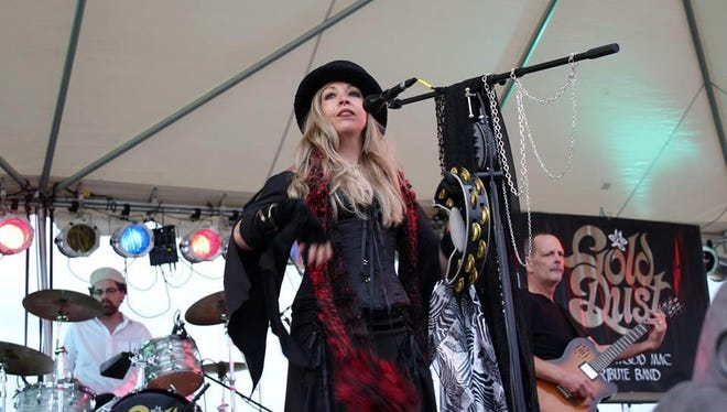 Windy Wahlke plays the role of Stevie Nicks in Gold Dust, a Fleetwood Mac Tribute Band. The group will perform 7 to 10 p.m. Saturday, Aug. 22, at Kathken Vineyards.