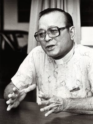 Father Juan Camacho, of the Santa Barbara Church, as photographed June 16, 1980