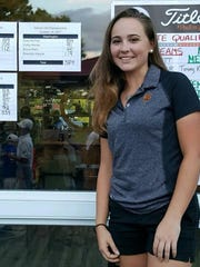 Zoey Nichols is the first female golfer from Washington High School to go on and play at the college level.