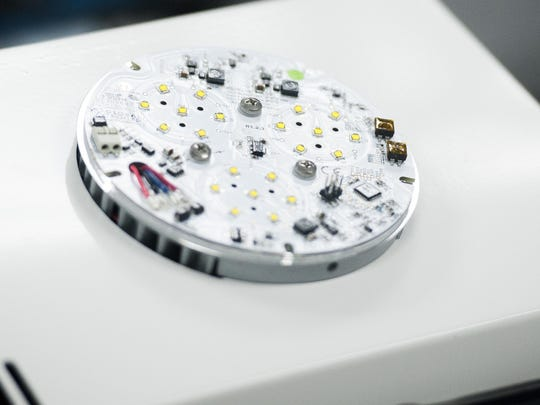 An LED is seen during the 2015 Bonita Springs Estero EDC annual meeting hosted at the Global Tech offices in Bonita Springs, Fla. on Tuesday, October 6, 2015.
