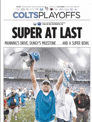 IndyStar special section front on Jan. 22, 2007 after