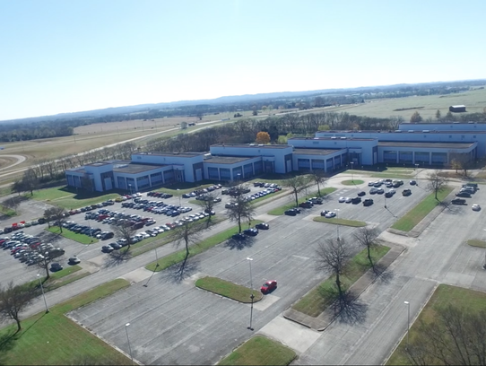 An aerial view of the Northfield site in Maury County.