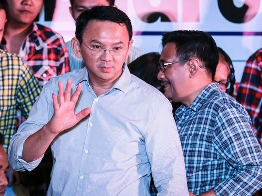 Jakarta's incumbent governor Basuki 'Ahok' Tjahaja
