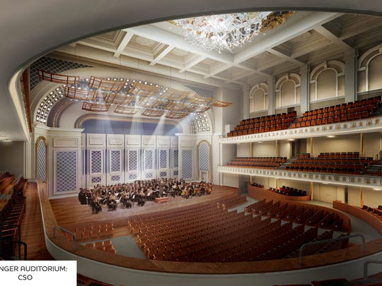 A rendering of how Music Hall's Springer Auditorium