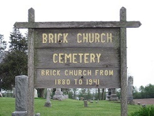Signage from the First Christian Church of Greenbush,
