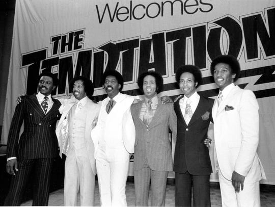 The Temptations appear at a party at Studio 54 in New