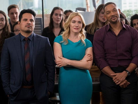 """Michael Pena, Kate Winslet and Will Smith in """"Collateral"""