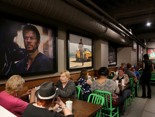 The first customers of the day to eat at Mark Wahlberg's