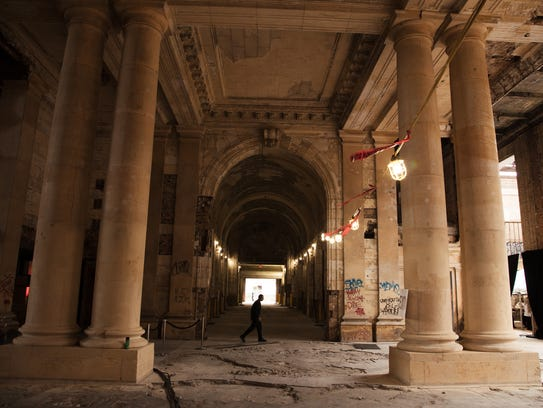 A view of the interior of Michigan Central Station in Detroit is seen on Wednesday September 13, 2017, during Crain's Detroit Homecoming IV event.