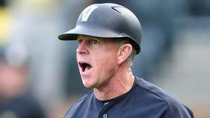 Vanderbilt Head Coach Tim Corbin yells during the second inning against South Carolina at Vanderbilt University's Hawkins Field in Nashville, Tenn., Friday, May 16, 2014.