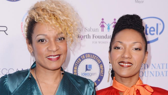 Helene, left, and Celia Faussart of the French group Les Nubians.