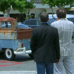 """This undated image released by Columbus 81 Productions shows comedians Jerry Seinfeld, left, and Michael Richards, former co-stars in the popular comedy """"Seinfeld,"""" in a scene from the finale of Seinfeld's web series, """"Comedians in Cars Getting Coffee."""" The Crackle video streaming service, known best for Jerry Seinfeld's motorized interview series, will run a constant video feed as if it were a TV network, with a schedule of programming."""