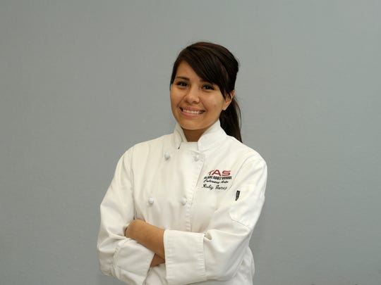 Ruby Gomez of Tulare. Monday during the Tulare Adult School Culinary Arts program.