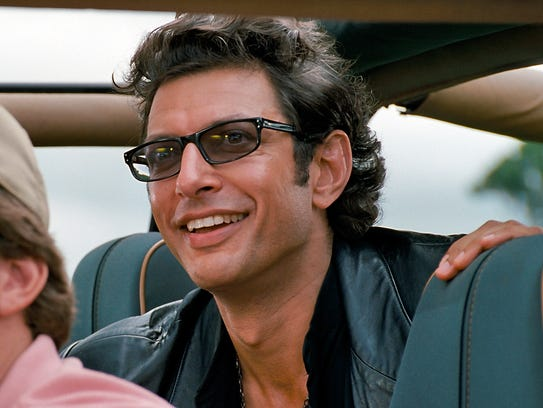 "Jeff Goldblum reprises his ""Jurassic Park"" role, Dr."
