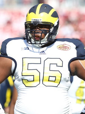 Michigan defensive lineman Ondre Pipkins.