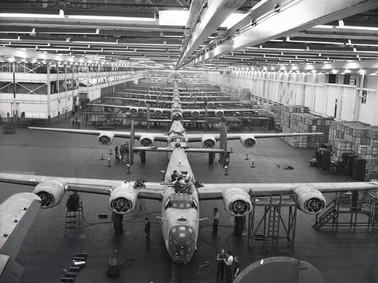 Car Manufacturing Stopped For Wwii Munitions Production