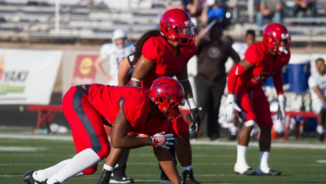 Dixie State football starts off their season against New Mexico Highlands at Legend Solar Stadium Thursday, Sept. 1, 2016.
