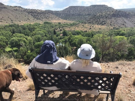 Meghan McCain tweeted this photo, which she says was taken on a hike with her dad, U.S. Sen. John McCain, on July 22, 2017.