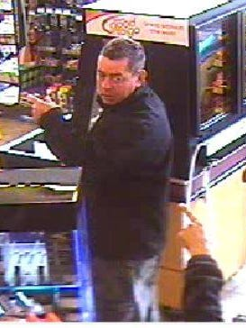 Livonia police are searching for this man, whom they say stole a purse out of a vehicle parked at the Speedway gas station at Plymouth and Farmington.