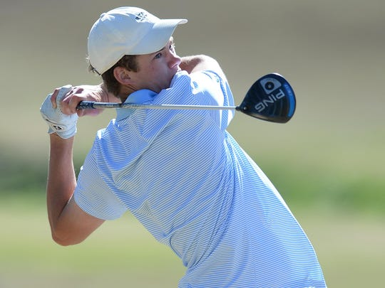 Stephen Reynolds, shown during the Greenville County tournament in March, finished as runner-up and led Christ Church to its fourth straight team championship Tuesday at Cheraw State Park Golf Course.