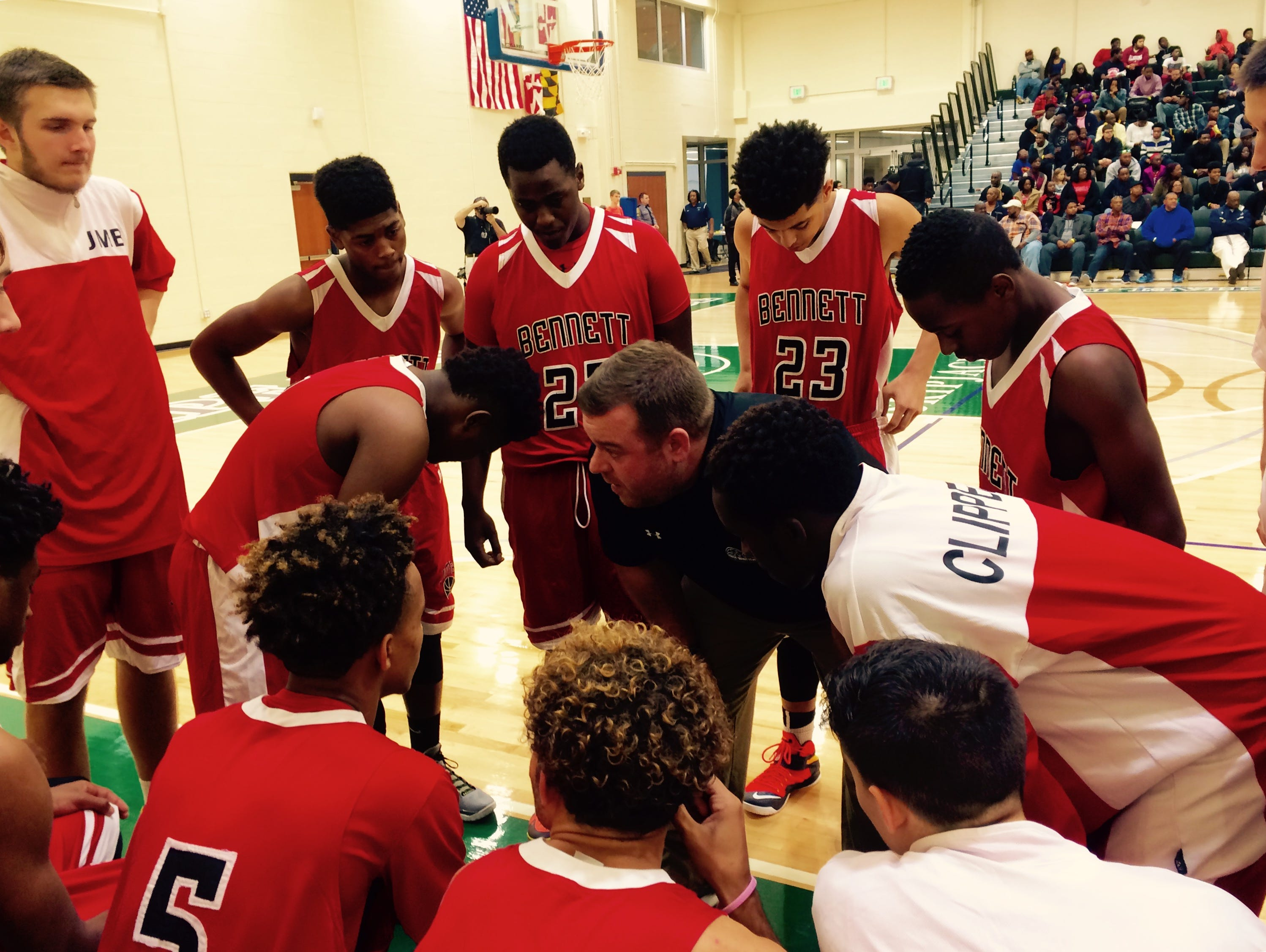 Clippers' head coach Dustin Mills readying his team for battle.