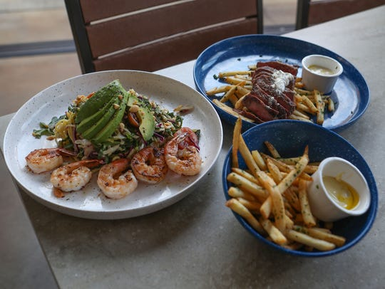 Some of the food items at Tommy Bahama Marlin Bar in
