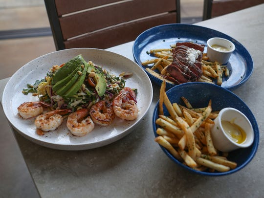 Some of the food items at Tommy Bahama Marlin Bar in downtown Palm Springs, May 11, 2018.