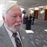 Joe Conlon, technical adviser for the American Mosquito Control Association, discusses challenges associated with fighting the mosquito that carry the Zika virus during the association's annual conference in Savannah, Georgia, on Monday.