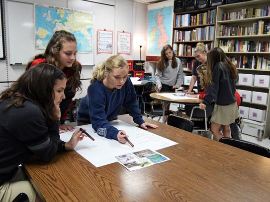 Petal sophomores work on an assignment in their history class at Petal High School. The Petal School District was No. 1 in the state.
