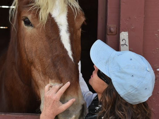 Vicky Beelik of Santa Paula evacuated her three horses