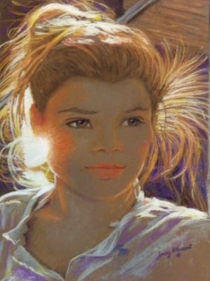 """AVA,"" pastel portrait by Judy Klement."