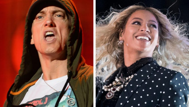 Eminem and Beyonce.