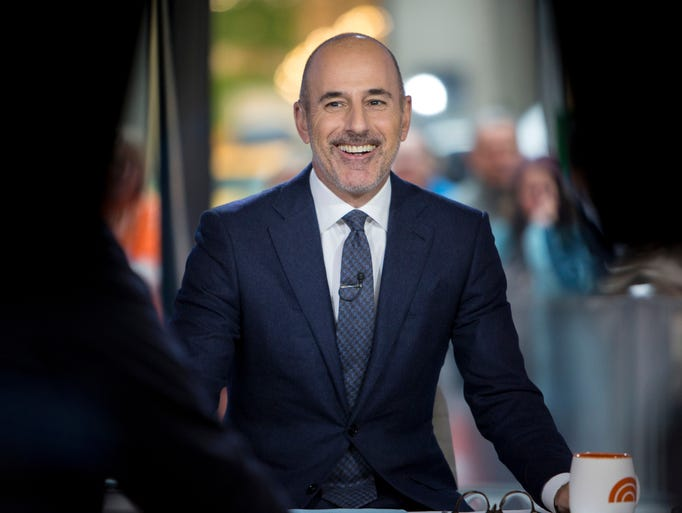 "Matt Lauer during a broadcast of the ""Today,"" show"