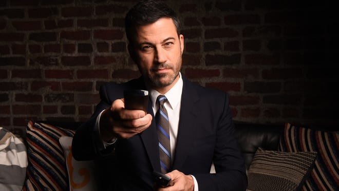 ABC late-night host Jimmy Kimmel is armed and prepared for his Emmy hosting gig Sunday.