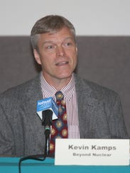 Kevin Kamps, nuclear waste specialist with Beyond Nuclear,