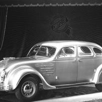 We're looking at some historic vehicles over the years from what is now Fiat Chrysler Automobiles. This is the car that inaugurated streamlining, the 1934 Chrysler Airflow