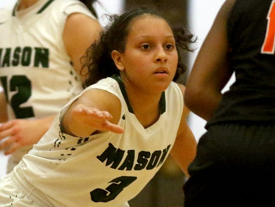 Mason's Sade Tucker plays defense  during the Comets'
