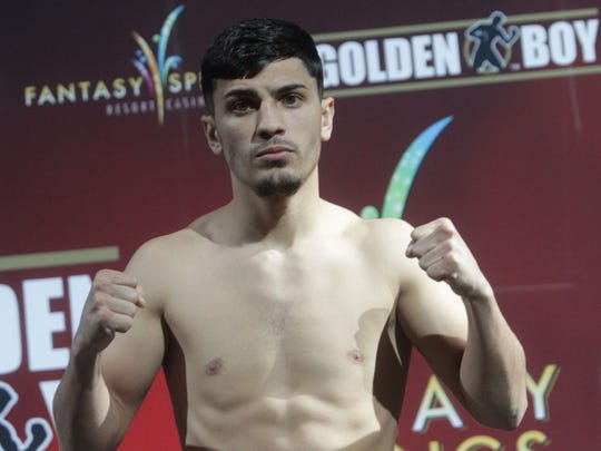 Randy Caballero weighs in at 124 pounds, two pounds over the 122 weight class. The fight against Ruben Garcia of Mexico City will be at a catch weight of 124 pounds on February 5th, 2016.
