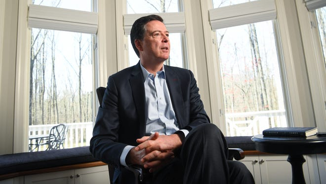 Former FBI director James Comey talked about the death of his son during an interview with USA TODAY.