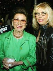 Nancy Sinatra, Sr. and singer Nancy Sinatra pose at