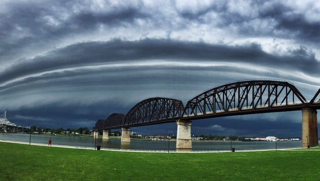 Stormy weather in Louisville.