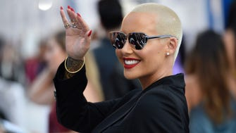 See how the stars shine upon arrival for MTV's Video Music Awards.   Amber Rose