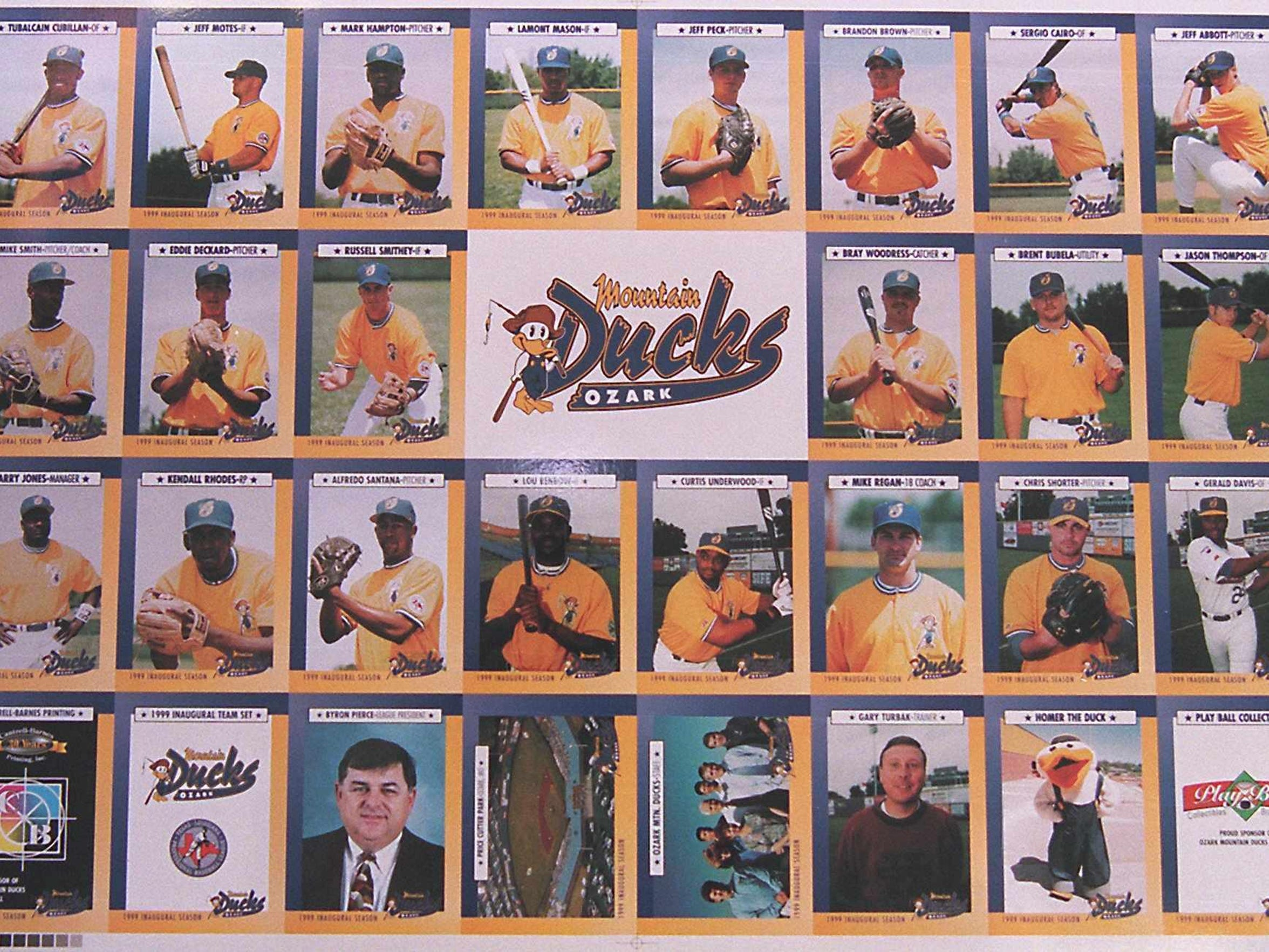 Ozark Mountain Ducks trading cards from 1999.