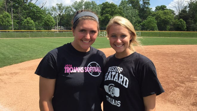 Chatard seniors Maggie Kassenbrock (left) and Frankie Kontor have weighed positives and negatives of playing multiple sports in high school.