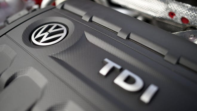 DAMIEN MEYER, AFP/Getty Images This picture taken on October 15, 2015 in Cardiff shows a Volkswagen logo on the engine of a diesel car. The German authorities tightened the screws on Volkswagen today, saying they would order it to recall 2.4 million vehicles across the country that are fitted with pollution-cheating software. AFP PHOTO / DAMIEN MEYERDAMIEN MEYER/AFP/Getty Images ORIG FILE ID: 545372854