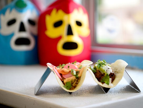 The Cabo taco, left, and the Ropa Vieja are two choices