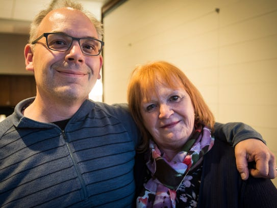 Jason Sargent and his birth mother Barbara Berry met